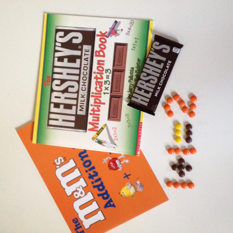 Math books plus chocolate