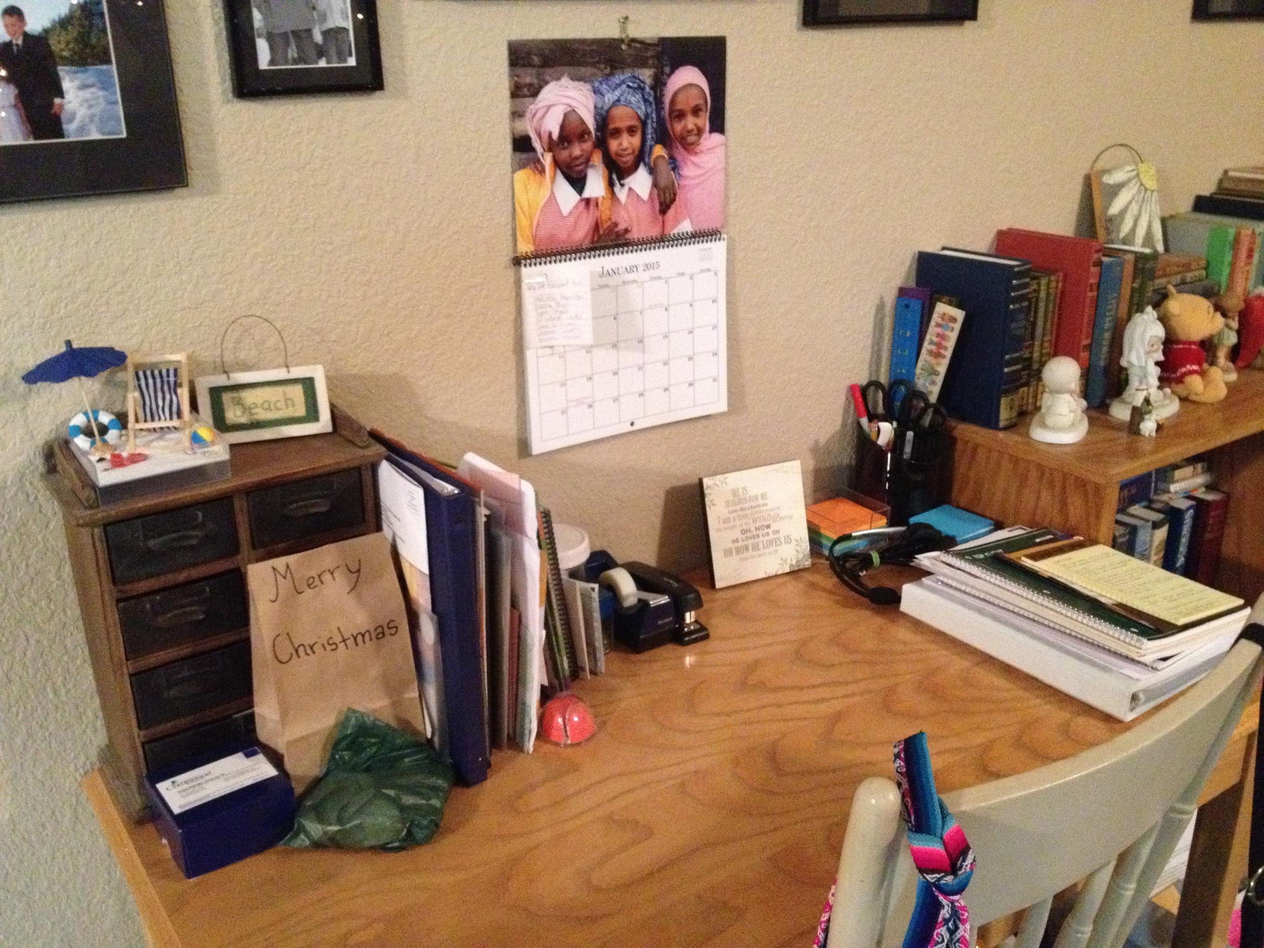 My de-cluttered desk