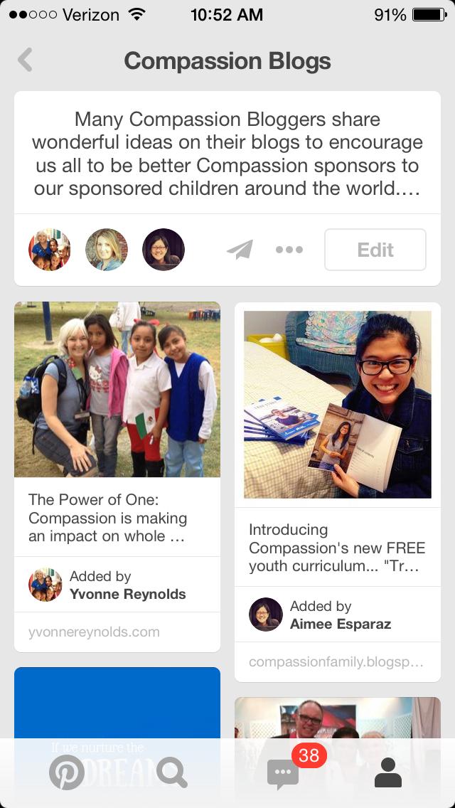 Compassion Blogs Pinterest board