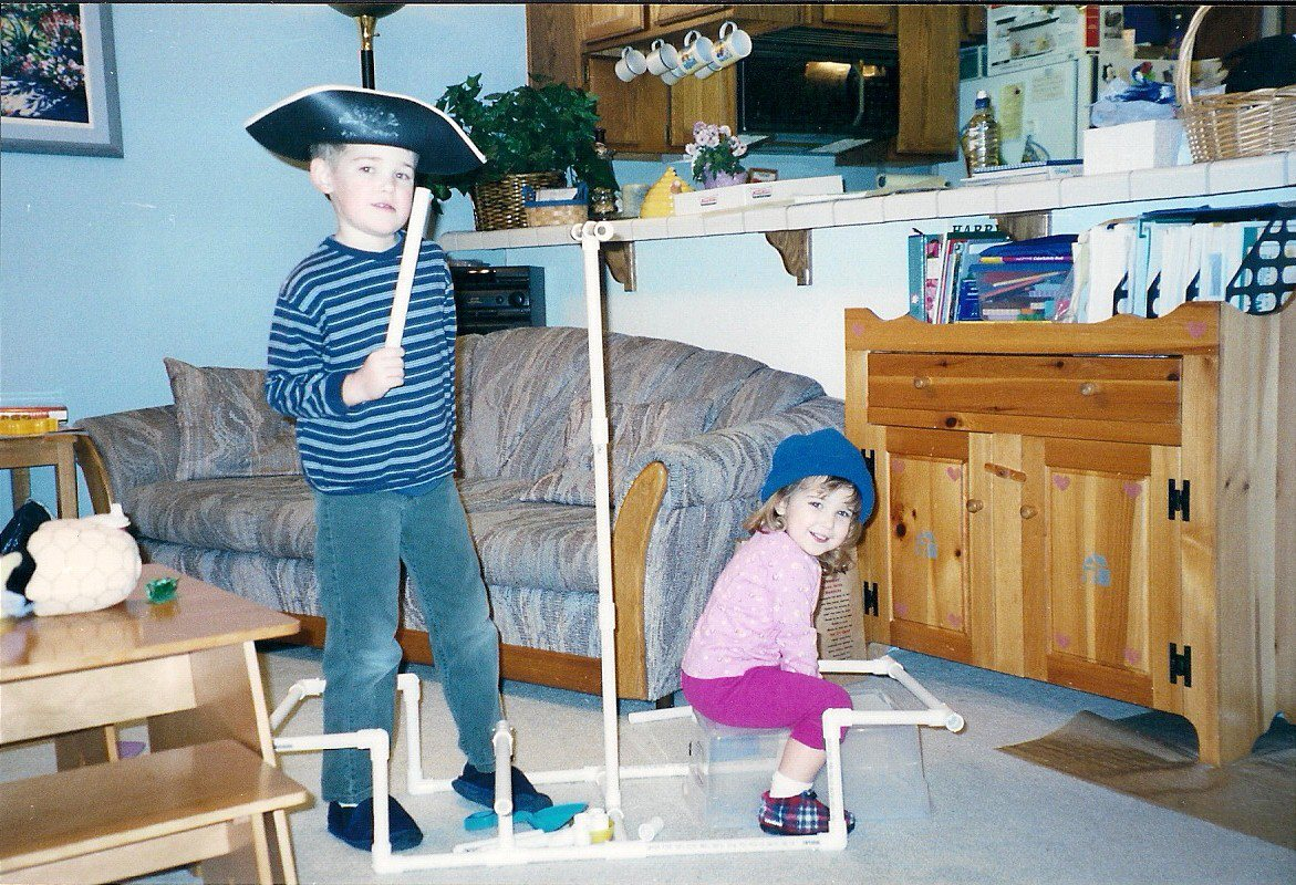 My children playing pirates