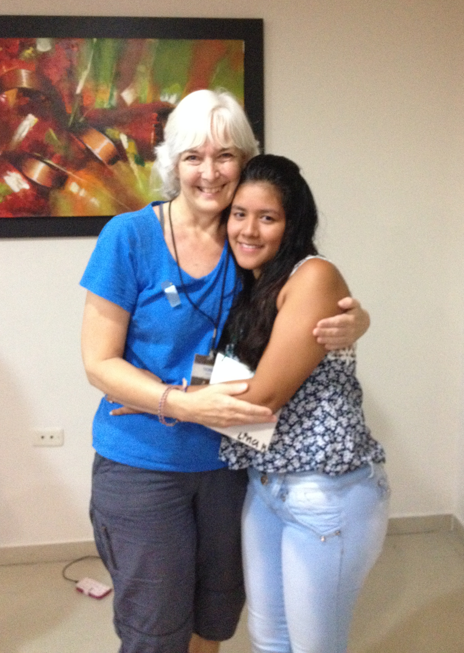 Meeting my sponsored child Lina in Colombia