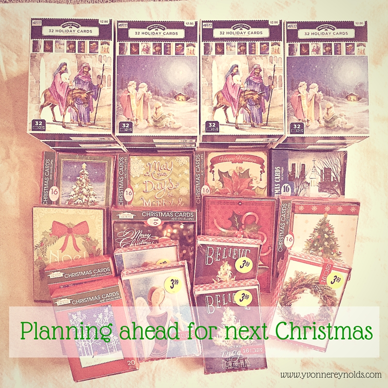 Planning ahead for next Christmas