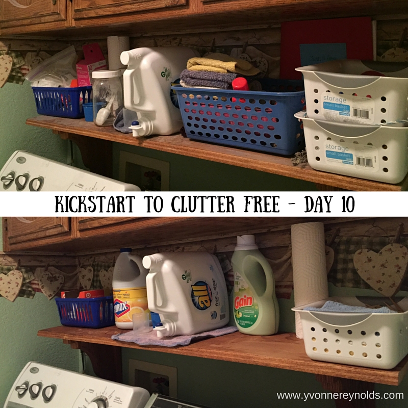 Kickstart to Clutter Free Laundry room