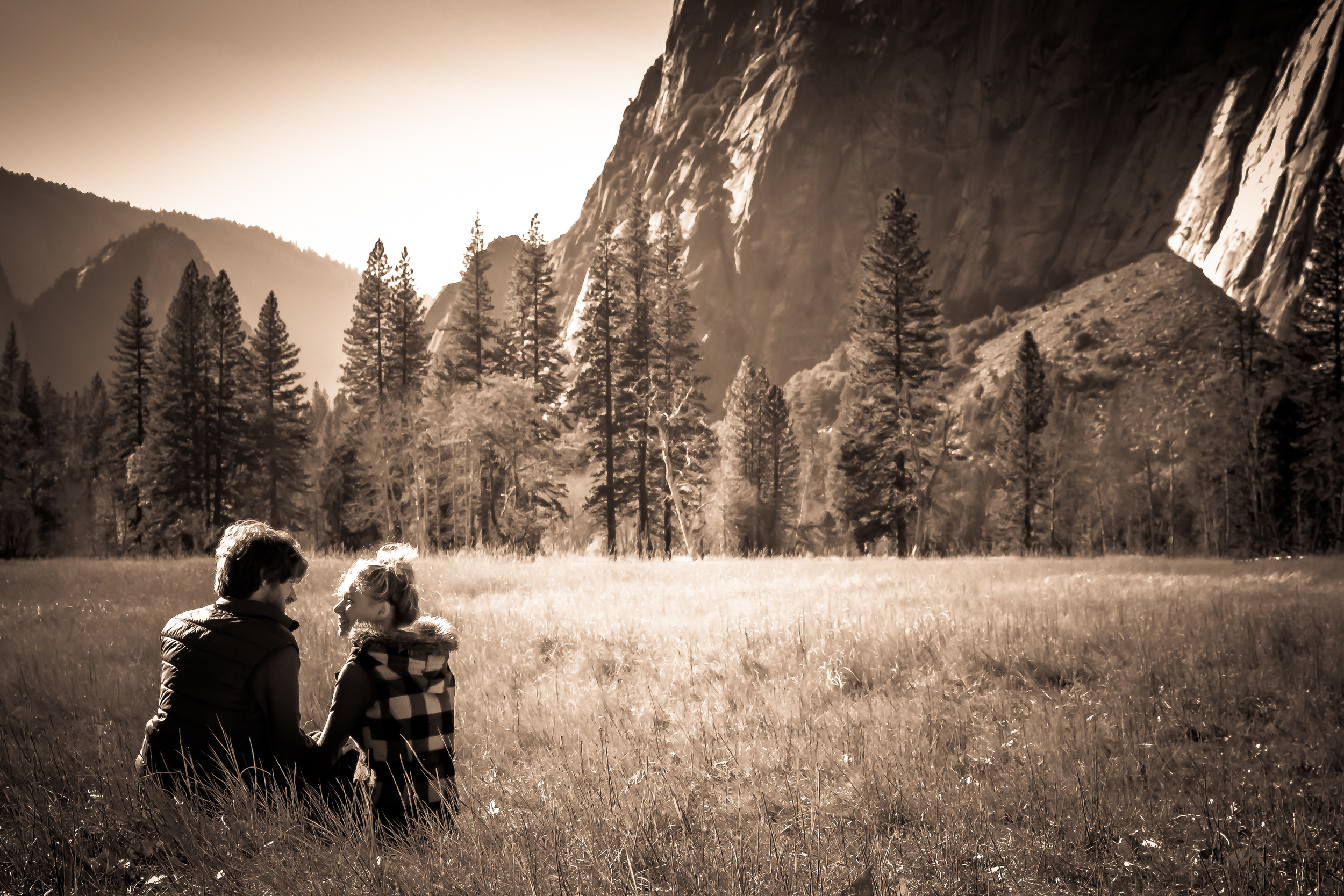 yosemite engagement shot