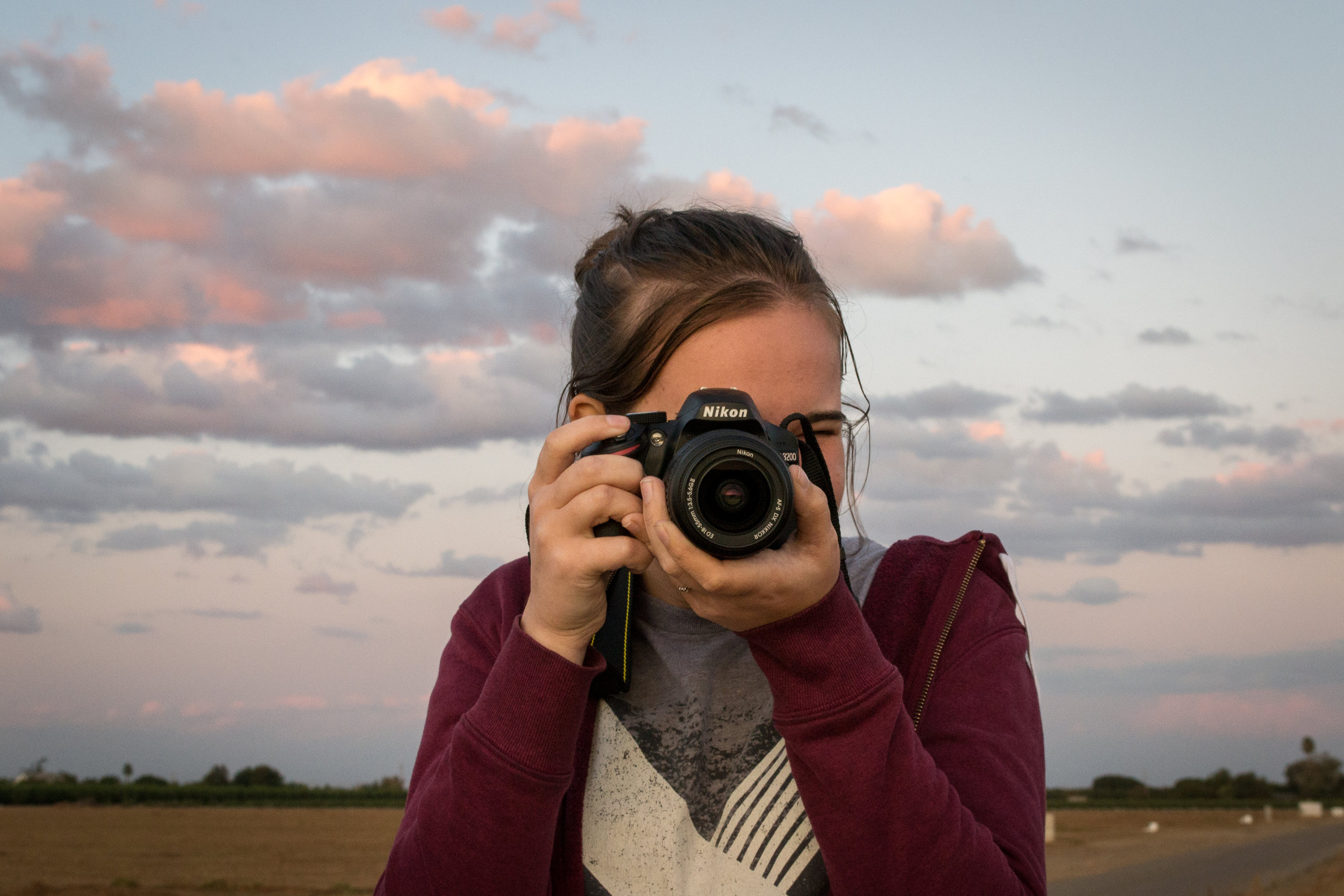 Kelsey and her camera