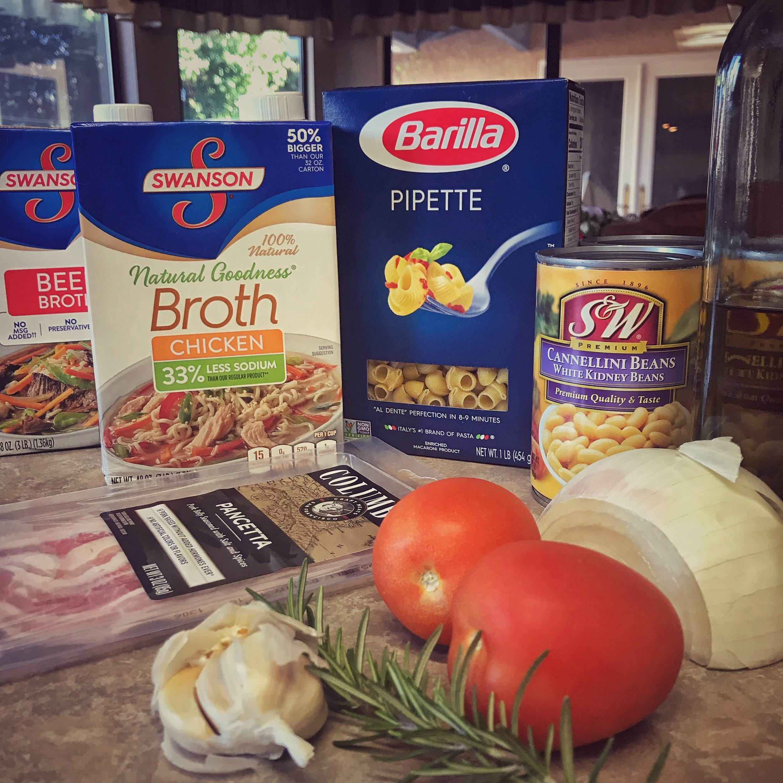 Ingredients for Pasta e Fagioli