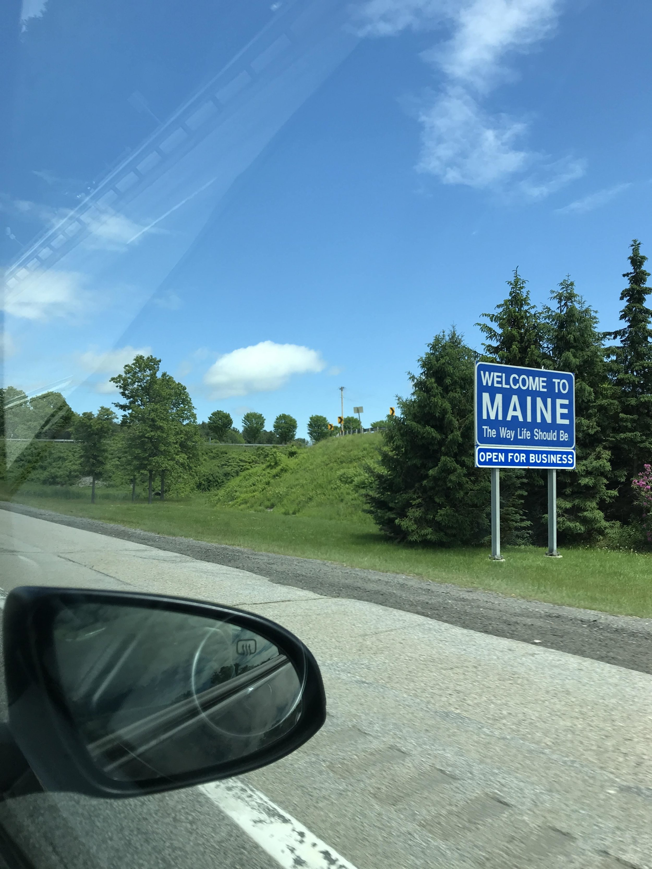 Maine state sign