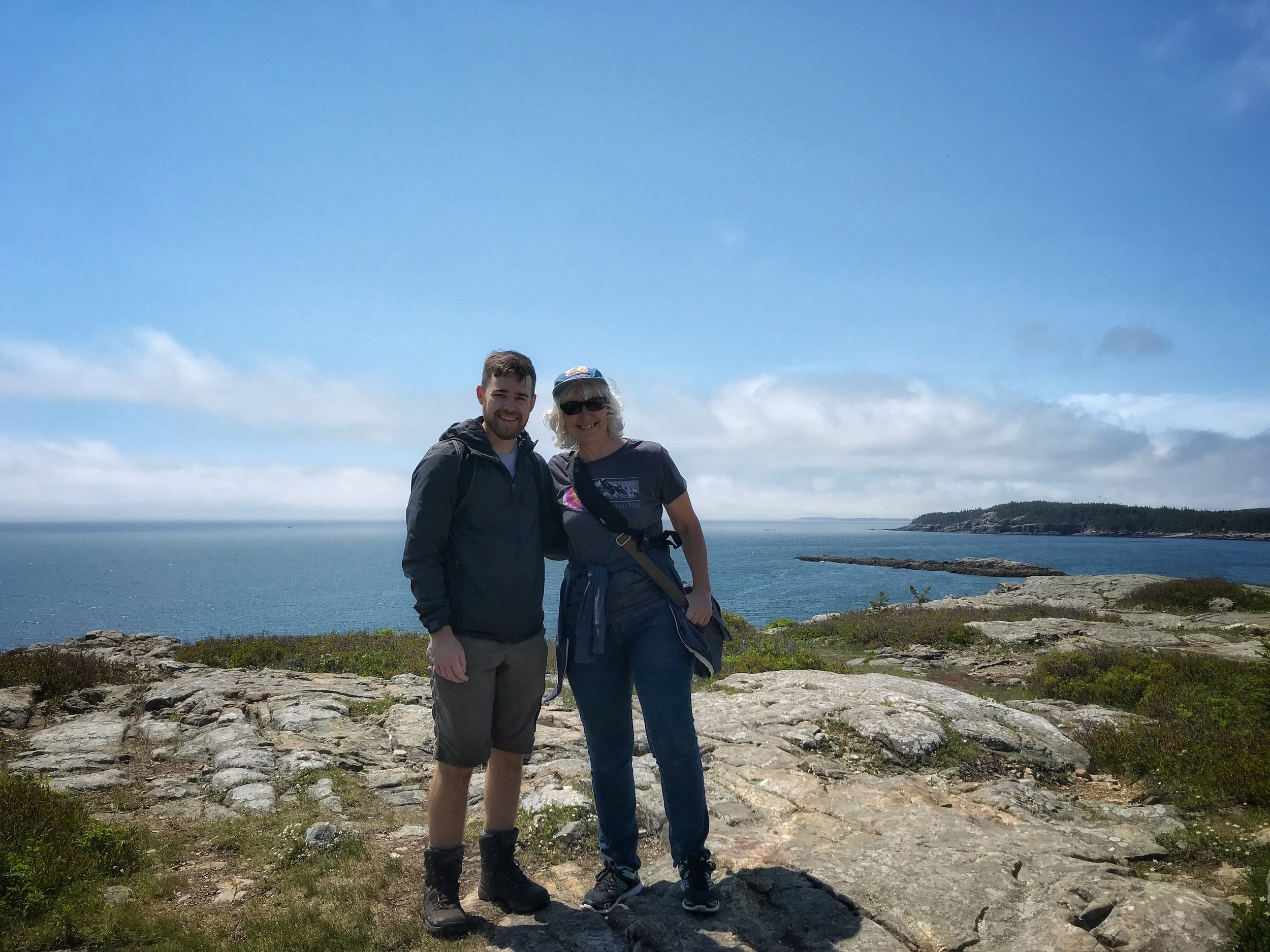 Matthew and I at Acadia National Park