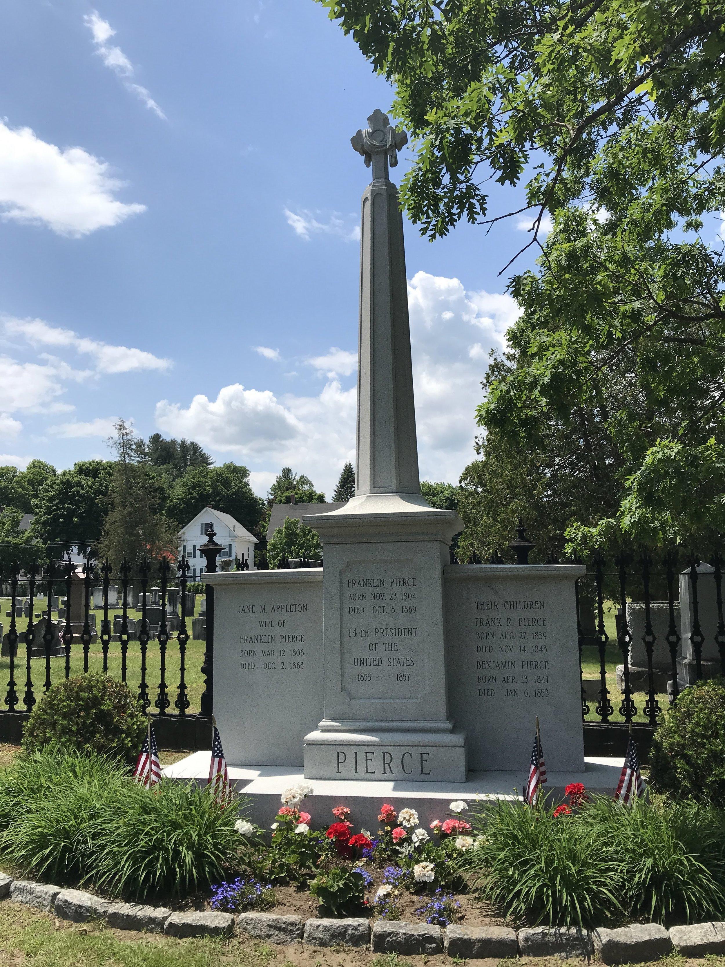 Franklin Pierce's grave site