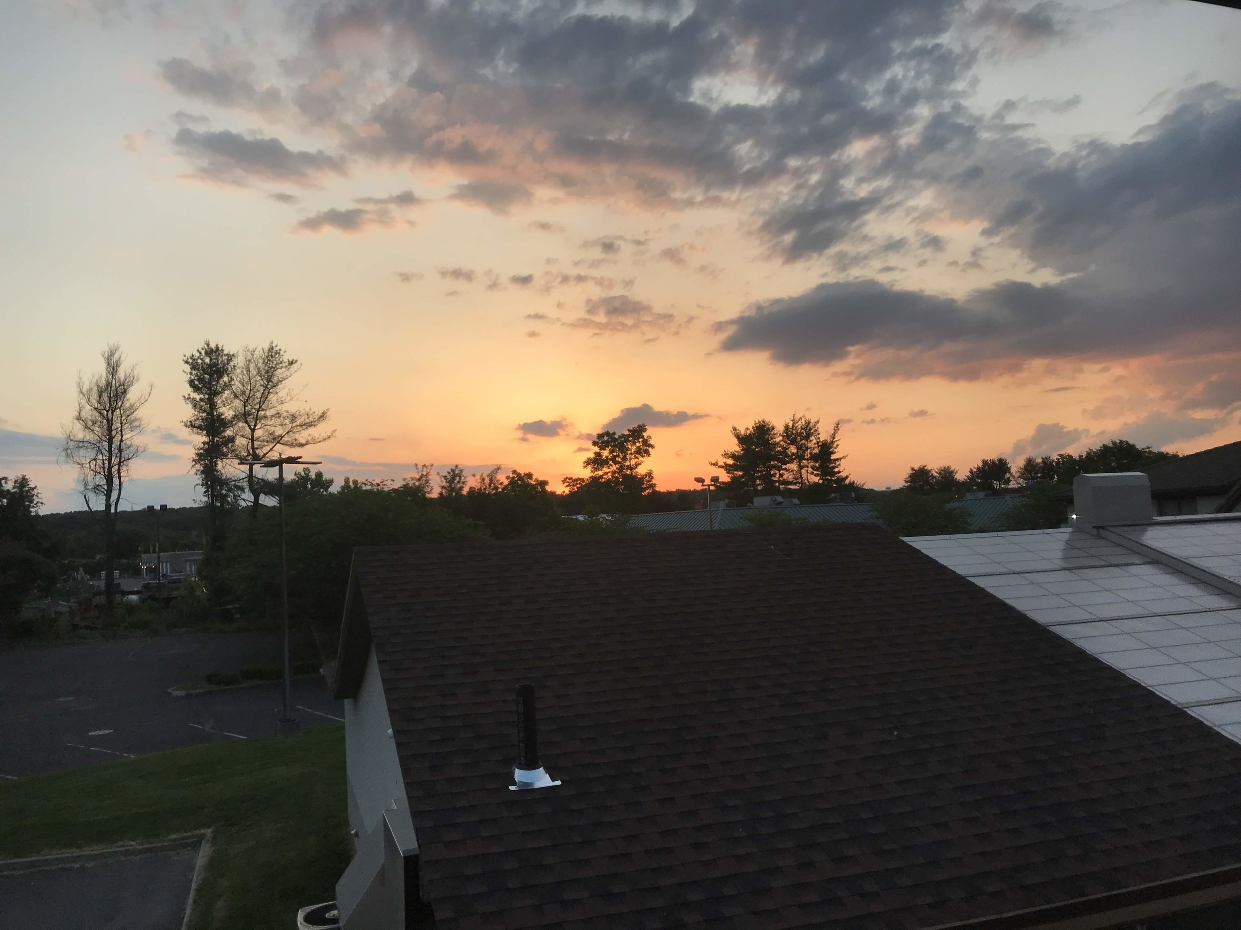 Sunset from the hotel room