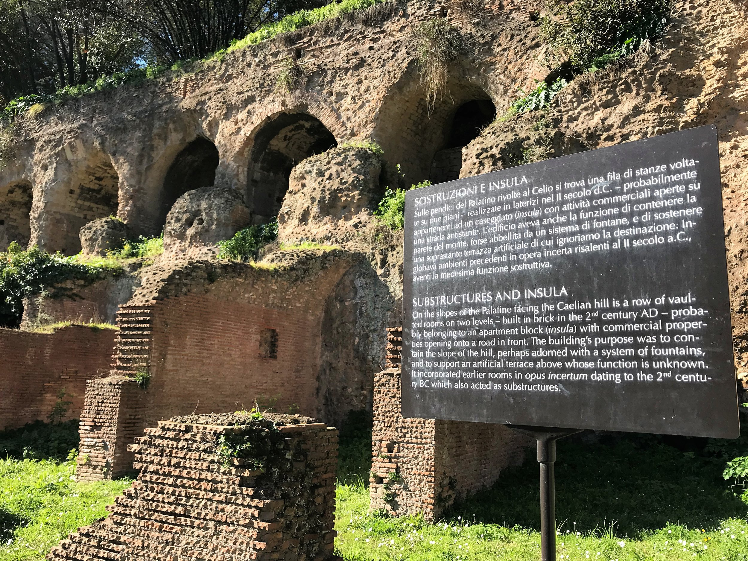 Structures in Palatine Hill