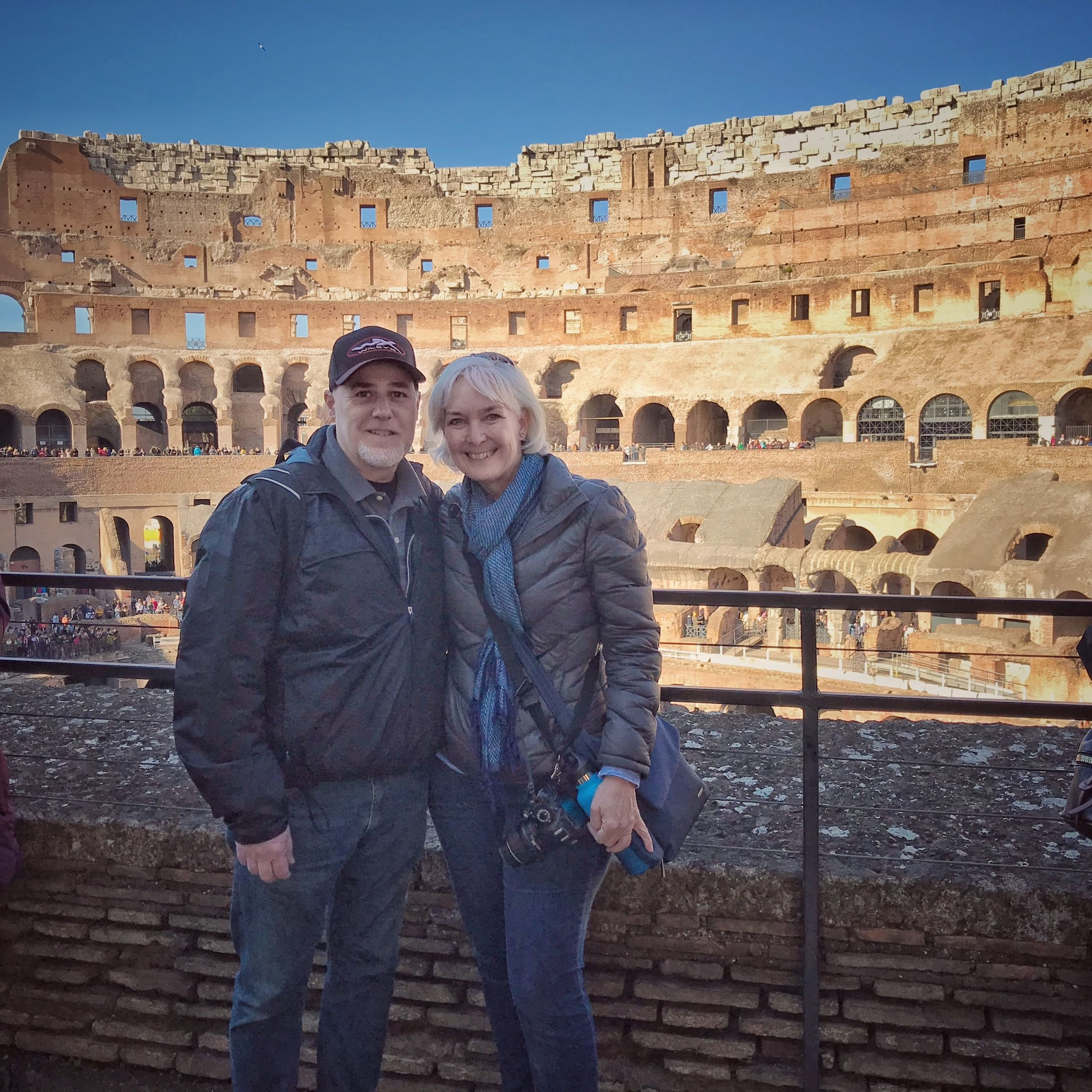 Here we are inside The Colosseum