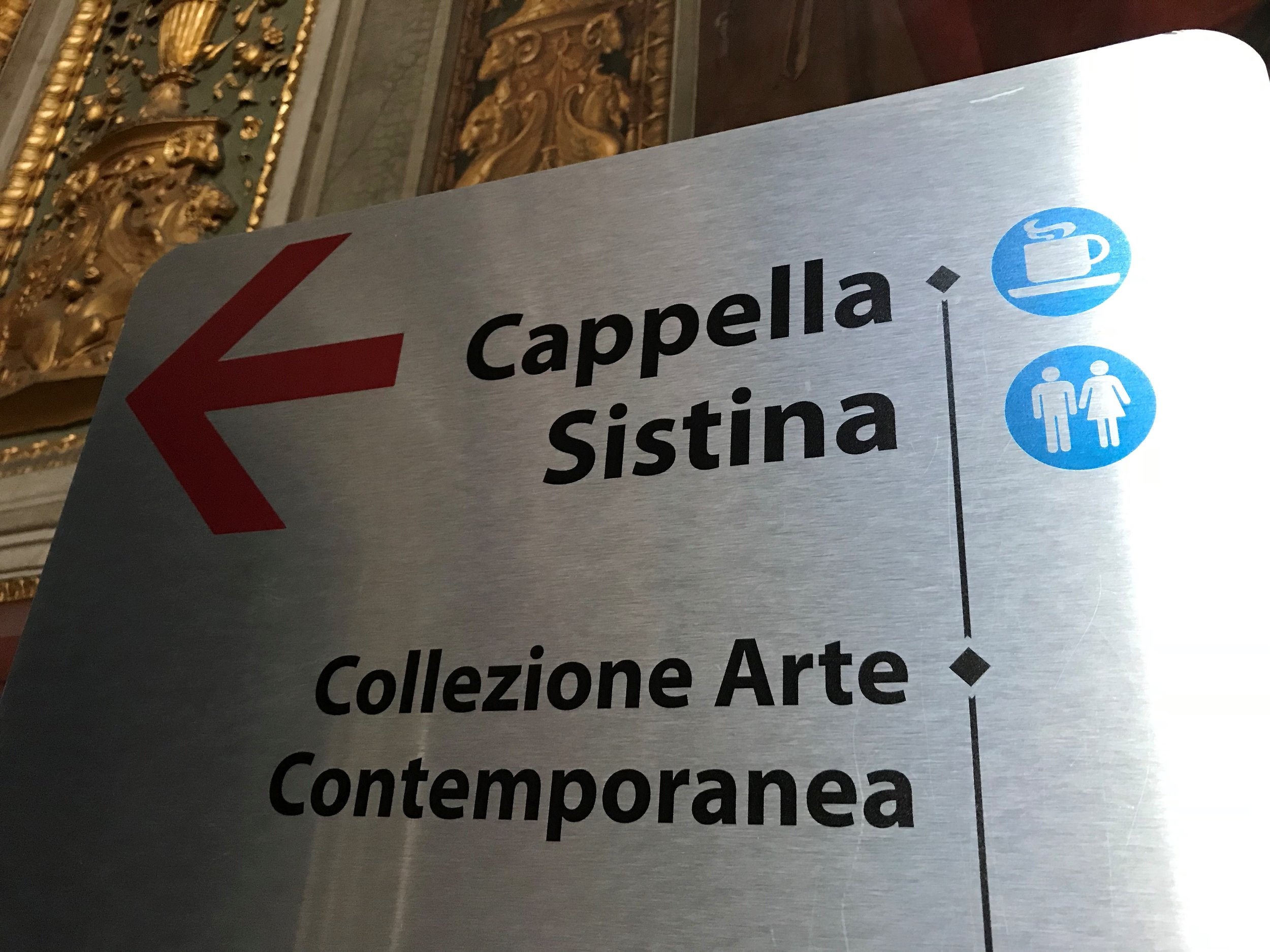 Sign for the Sistine Chapel