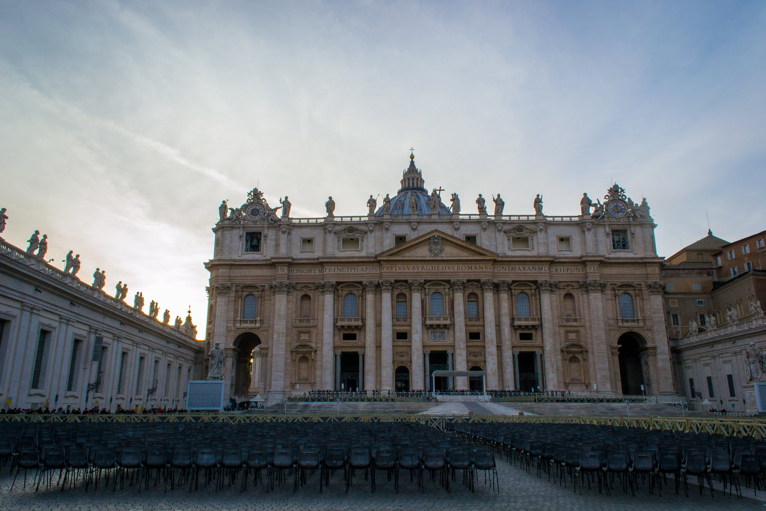 The outside of St. Peter's Basilica