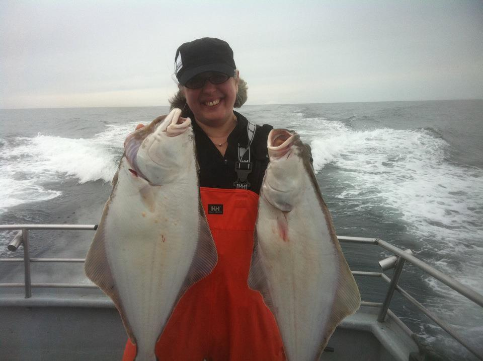 Catching halibut in Homer, AK (2013)