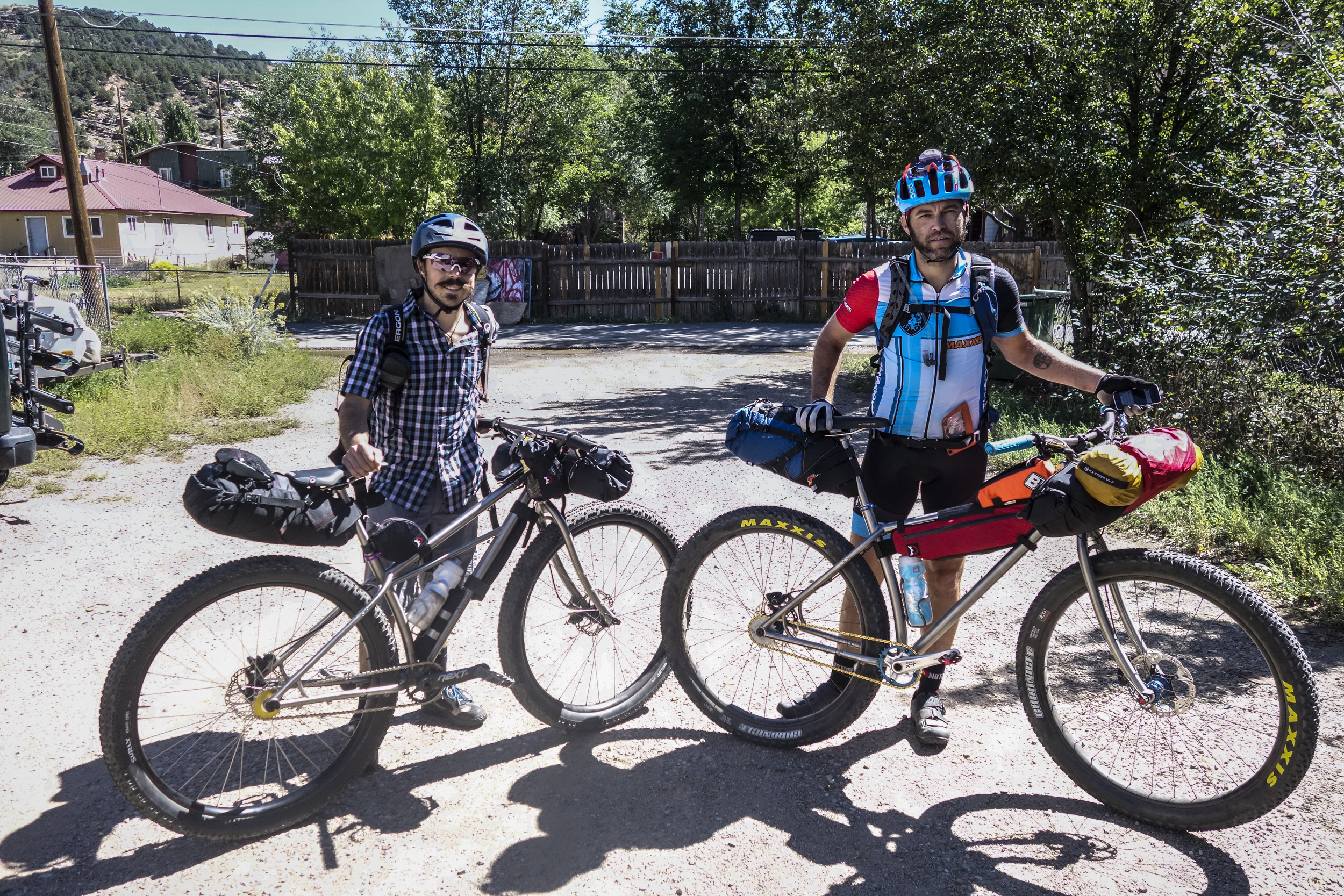 The   beginning  of Devon and Dejay's adventure last year on the  Colorado Trail