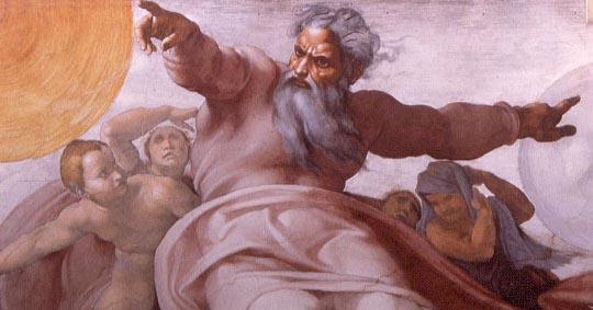 Angry God, Sistine Chapel