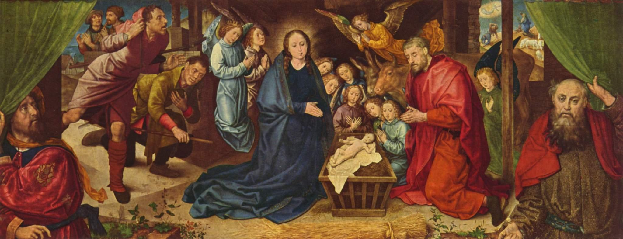 Hugo ven der Goes,  The Veneration of the Shepherds