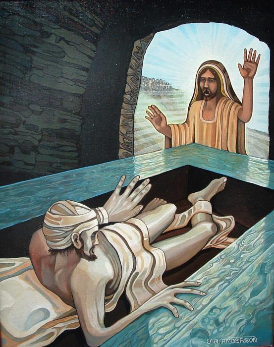 """I say """"Lazarus, come...OUT!"""""""
