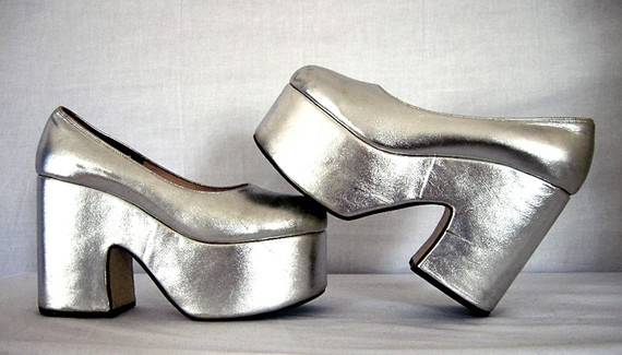 My shoes looked like this...but were white and the heels were even taller!