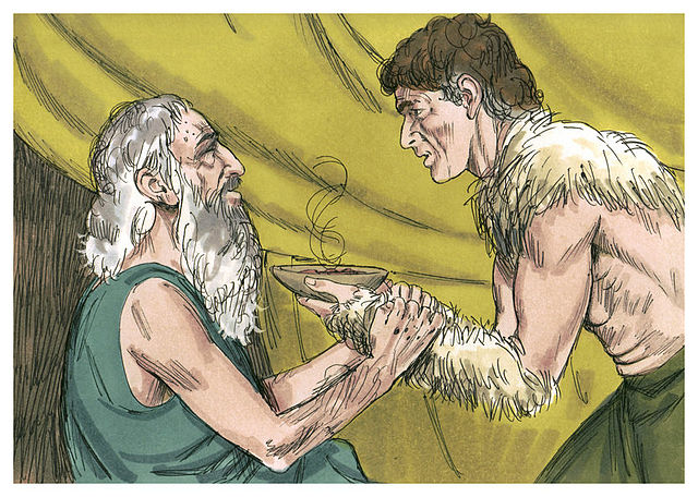 """""""And Isaac said,  'The voice is Jacob's voice, but the hands are the hands of Esau! '"""" (snicker, snicker....)"""