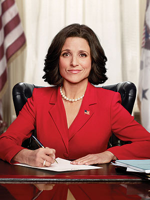 "Juia Louis-Dreyfuss in  Veep , a classic ""low"" character."