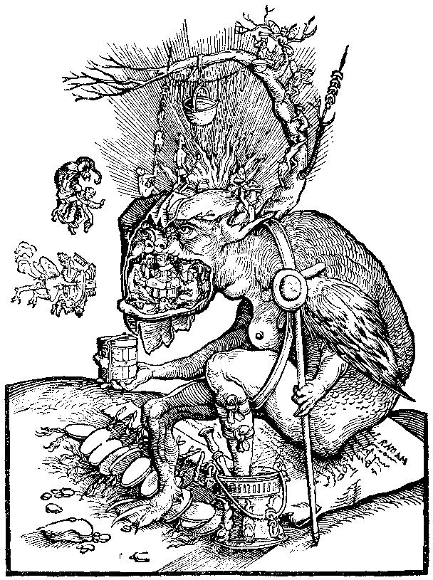 Protestant caricature of the Devil collecting for indulgences.
