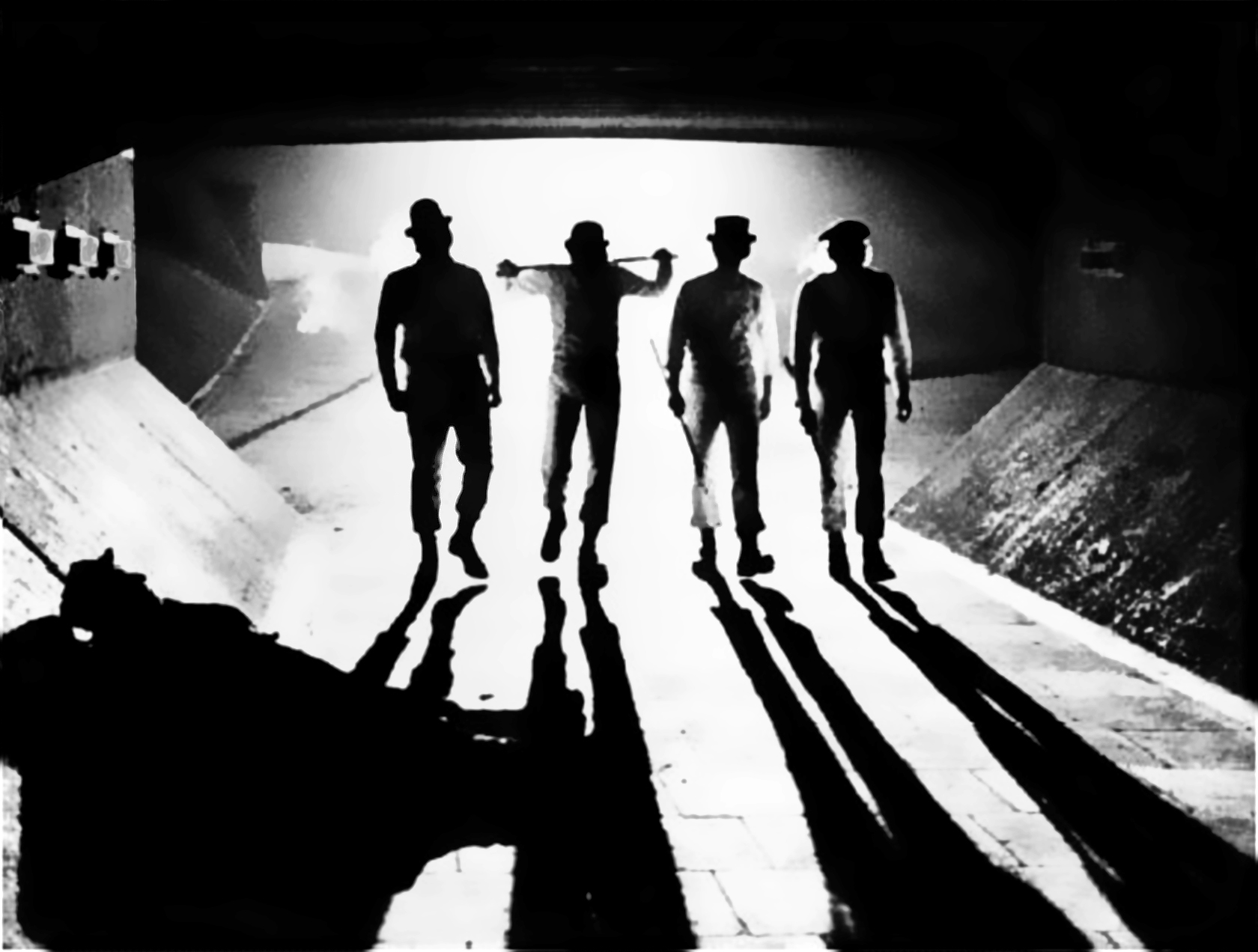 Droogs on their way to some ultra-violence, now as then.
