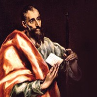 "El Greco's ""St. Paul"" depicts the apostle with quite long, graceful fingers, as if to emphasize the beauty of his writing.  However, not all of it is really  his. ..."