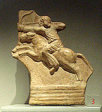 Parthian horseman, on display at the Palazzo Madama, Turin.