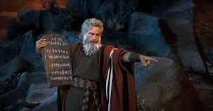 Moses should be careful when he points like that, cuz three fingers of course point back at him!