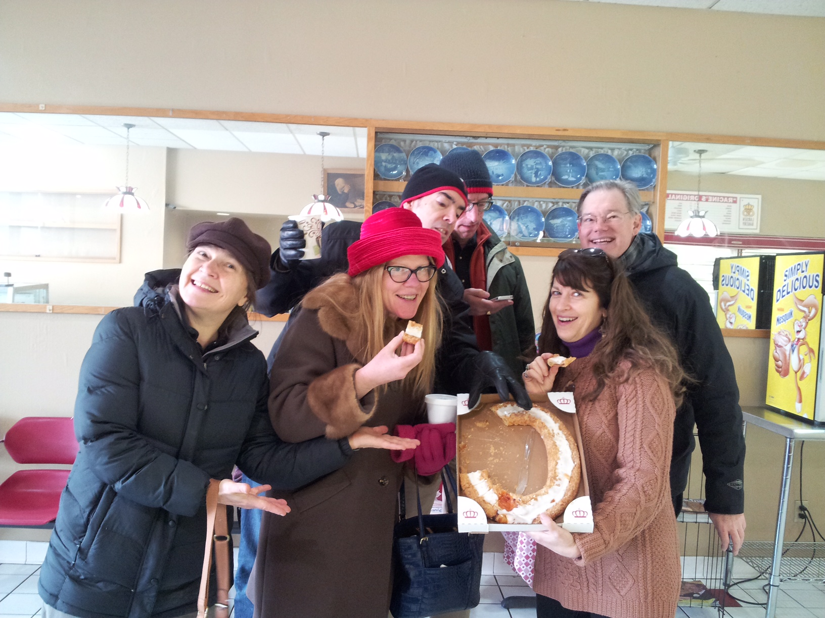 Racine is the Kringle Capital of the World! And this was our fourth of the morning. The only reason we're still smiling is that it was apricot and oh-so delicious....