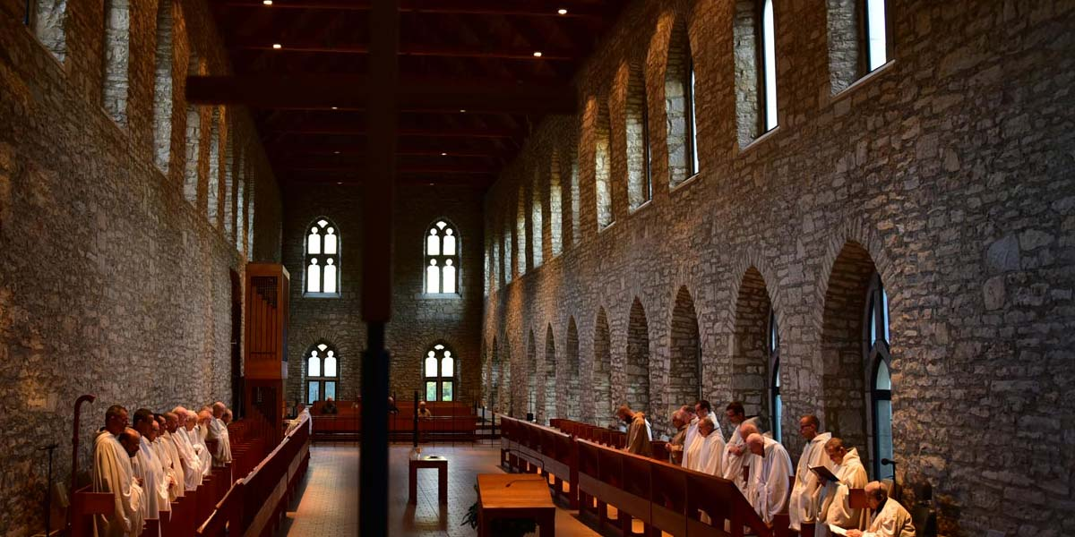The sanctuary of New Melleray Abbey, where I went six times a day to worship with the monks.