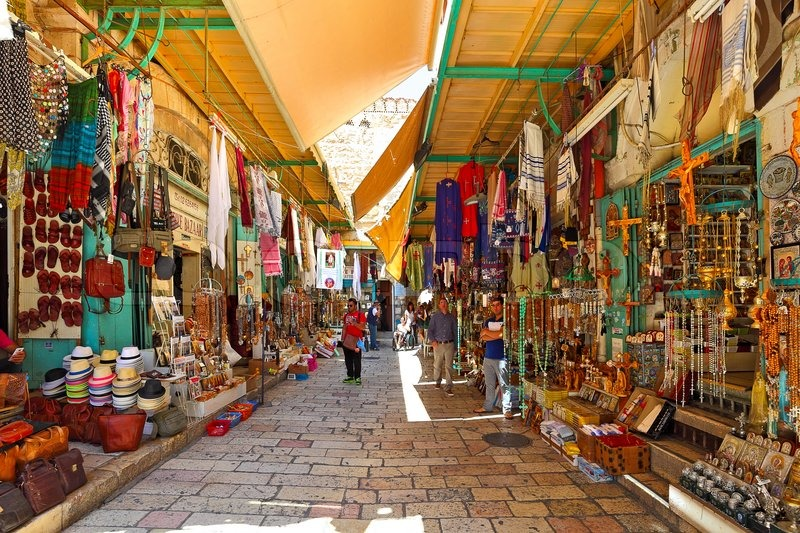 Typical street in the Jerusalem's Old City. Be sure and have your strategy ready for dealing with high-pressure shopkeepers!