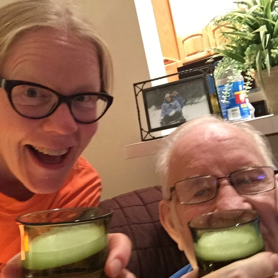 Dad's last New Years Eve at the condo. Cheers and double cheers!