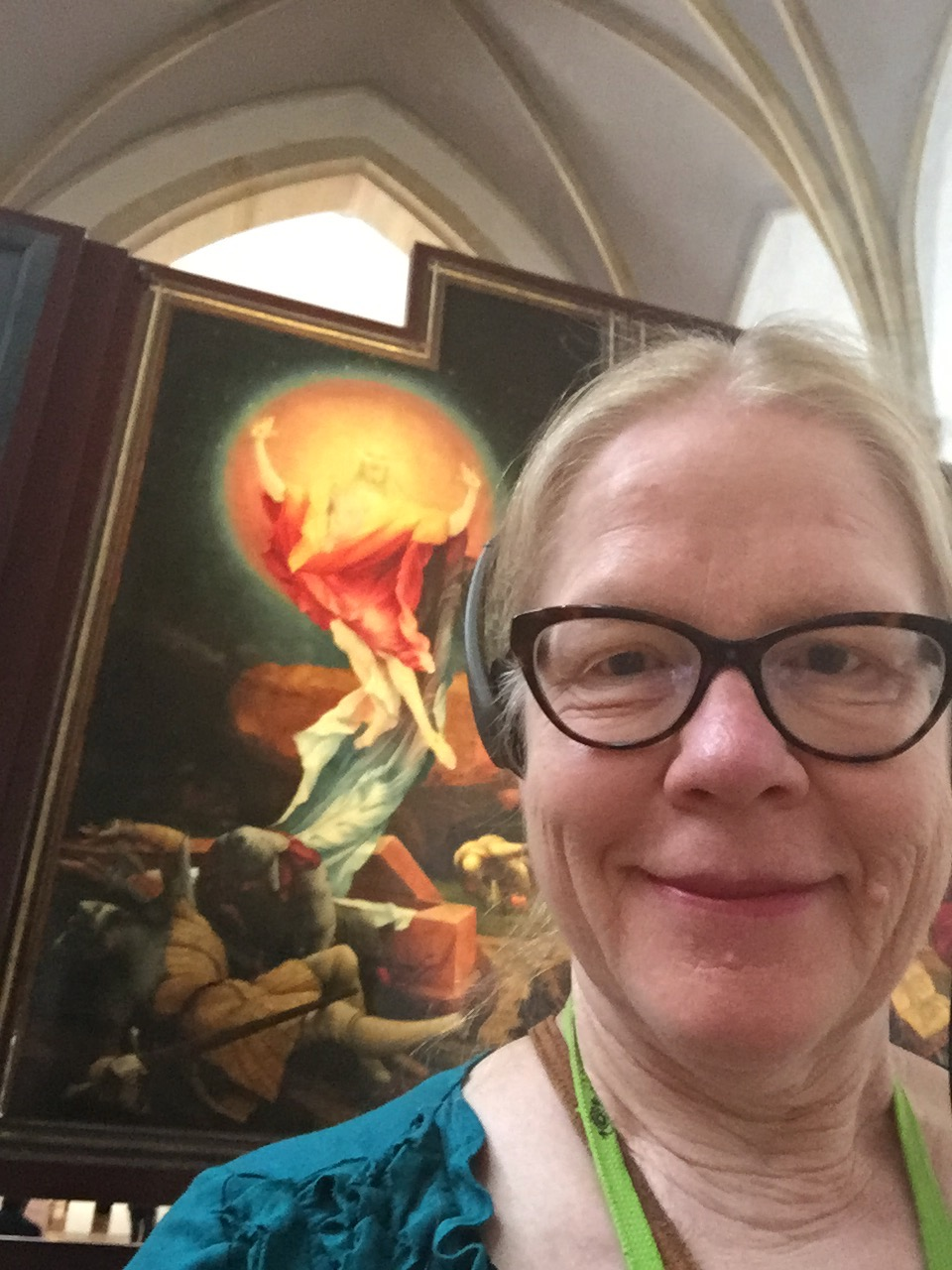 One of my biggest joys in Europe (besides cartwheeling and spending time with wonderful family and friends) was getting to see my favorite artwork of all time, the Isenheim Altarpiece by Matthias Grunewald in Colmar, France. I was traveling solo so got to spend as much time as I wanted to gawk and fawn and feel God's presence at this magnificent triptych. What a gift! May you be so lucky to have one of your nerd passions nourished in 2018. Whether in Timbucktu or your own backyard! :)