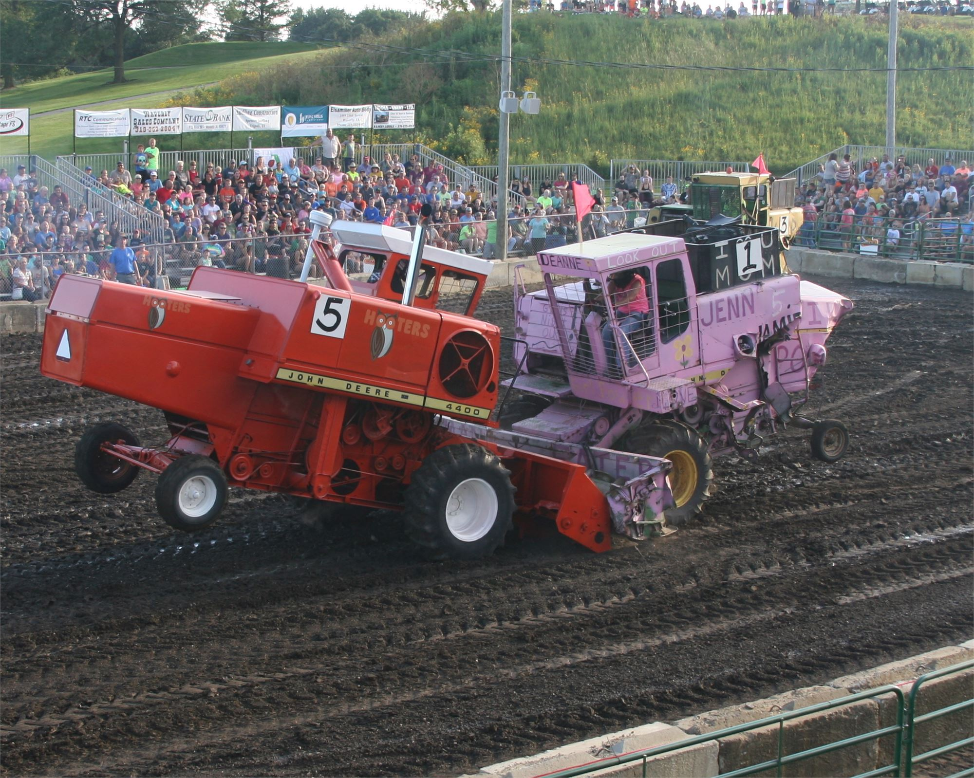 Combine Demolition Derby...Iowa's largest!
