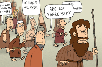 There's lots that's funny about the Exodus, too!