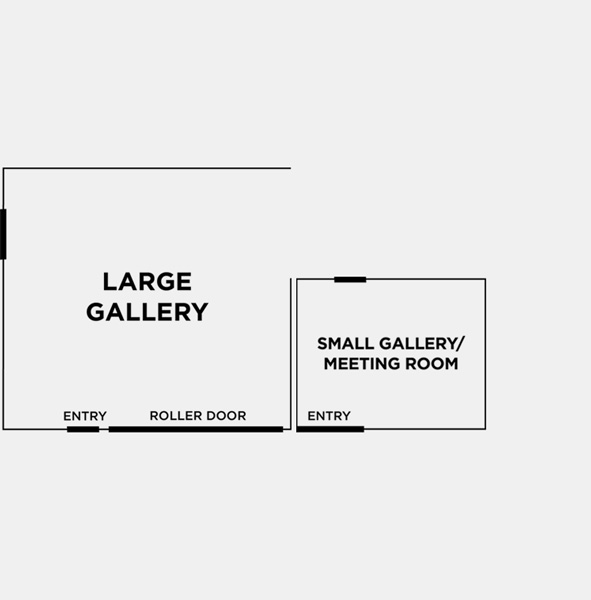 OPTION 3: LARGE & SMALL GALLERY - 7.3m x 8.1m (59sqm)5.4m x 4.3m (23sqm)Both of our beautiful, naturally lit studio spaces with a mix of both white plaster walls and brick walls painted white, black steel doors and dark tiled floor. Great for photo shoots when a private change room is needed.