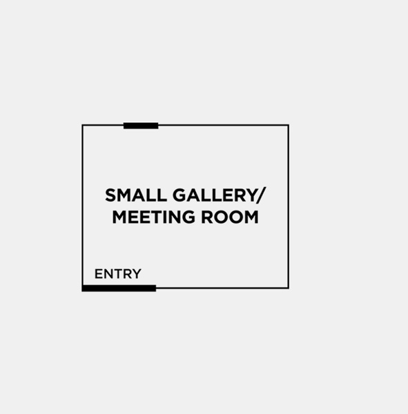 OPTION 2: SMALL GALLERY - 5.4m x 4.3m (23sqm)A beautiful, naturally lit studio space with a mix of both white plaster walls and brick walls painted white, black steel doors and dark tiled floor. Perfect for pop-up shops with a smaller offering or size of products.