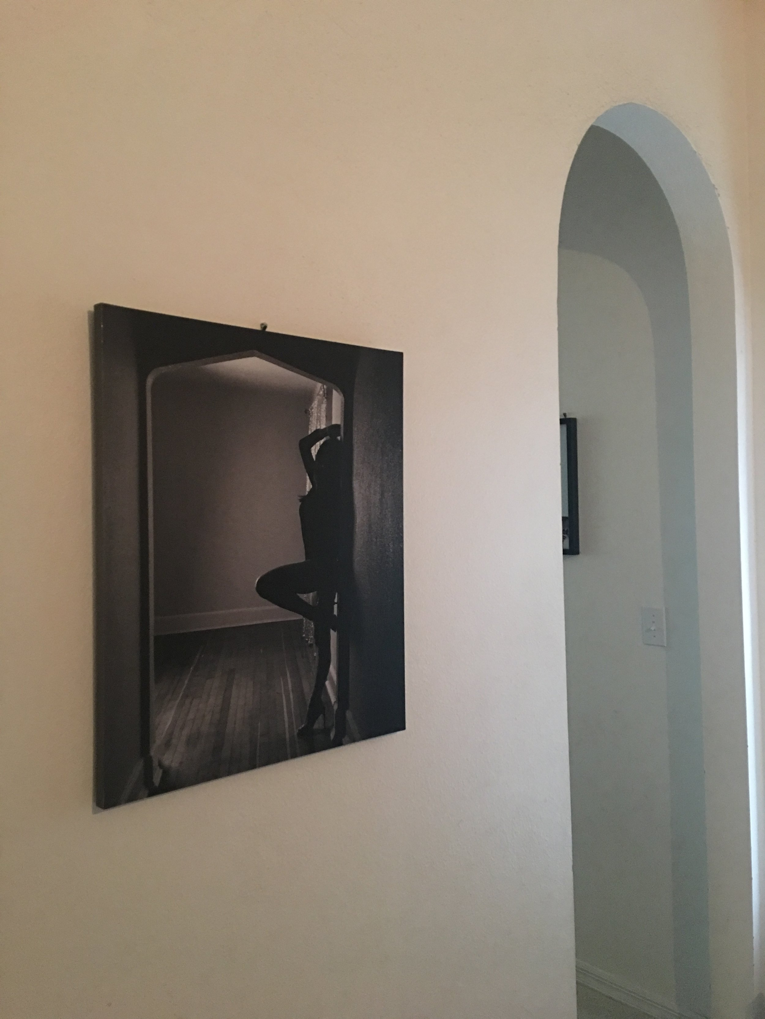 Speaking of wall art, - silhouettes and bodyscapes make excellent wall art and still give you some anonymity.