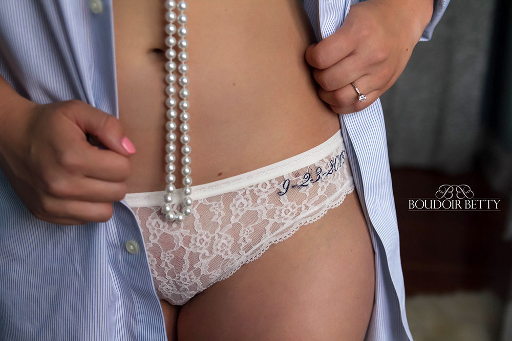 Get Your Wedding Date embroidered on your panties like this bride did!