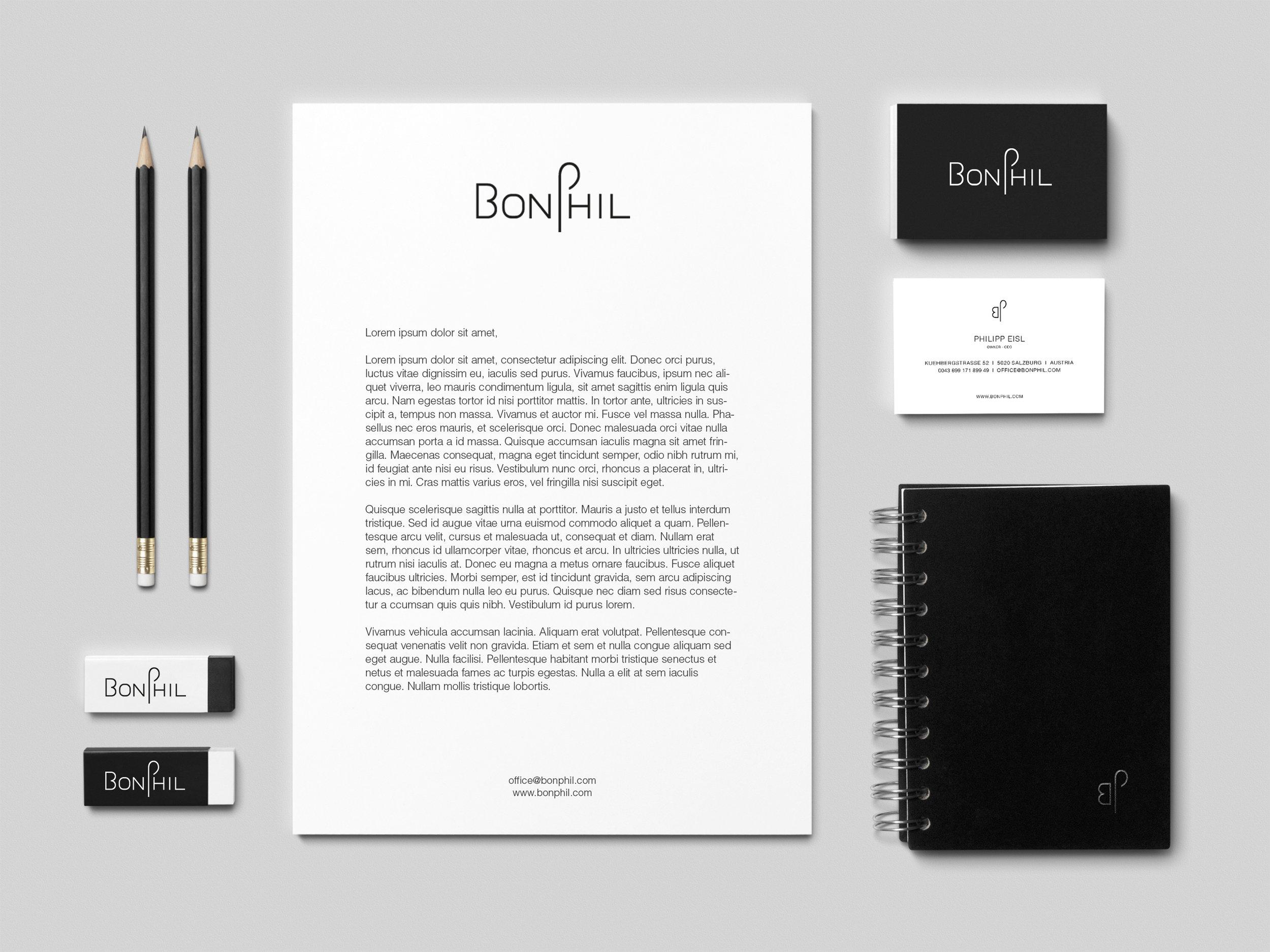 MAMOWORKS. BonPhil. Corporate Design Web Design Fashion Photogrphy. Maximilian Moosleitner. Salzburg. Austria