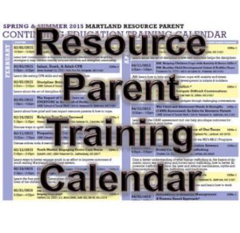 MD Resource Parent Training Calendar (Requires Adobe Acrobat to view)
