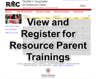 View and Register for Resource Parent Trainings