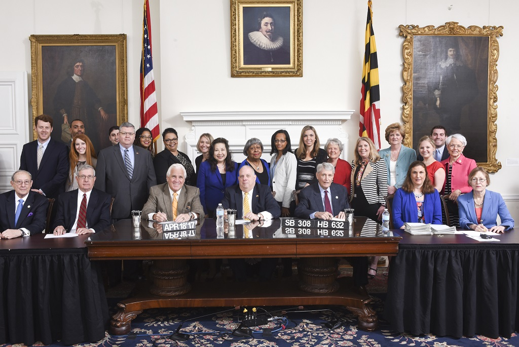Dr. Nadine Finigan-Carr, PhD, CSTVI Principal Investigator attends signing of SB 308 Protecting Victims of Sex Trafficking Act of 2017