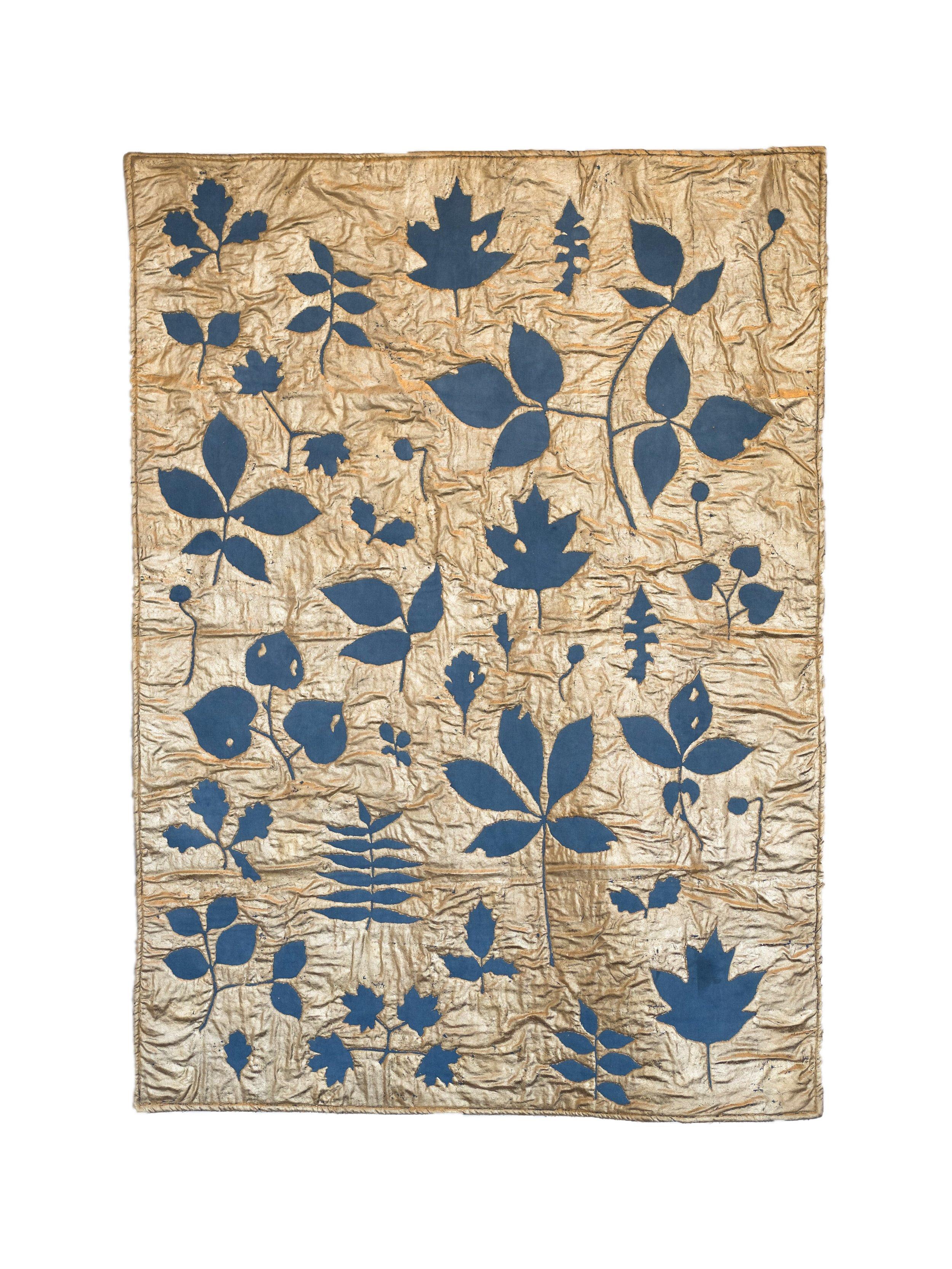 Leaves in Indigo Blue