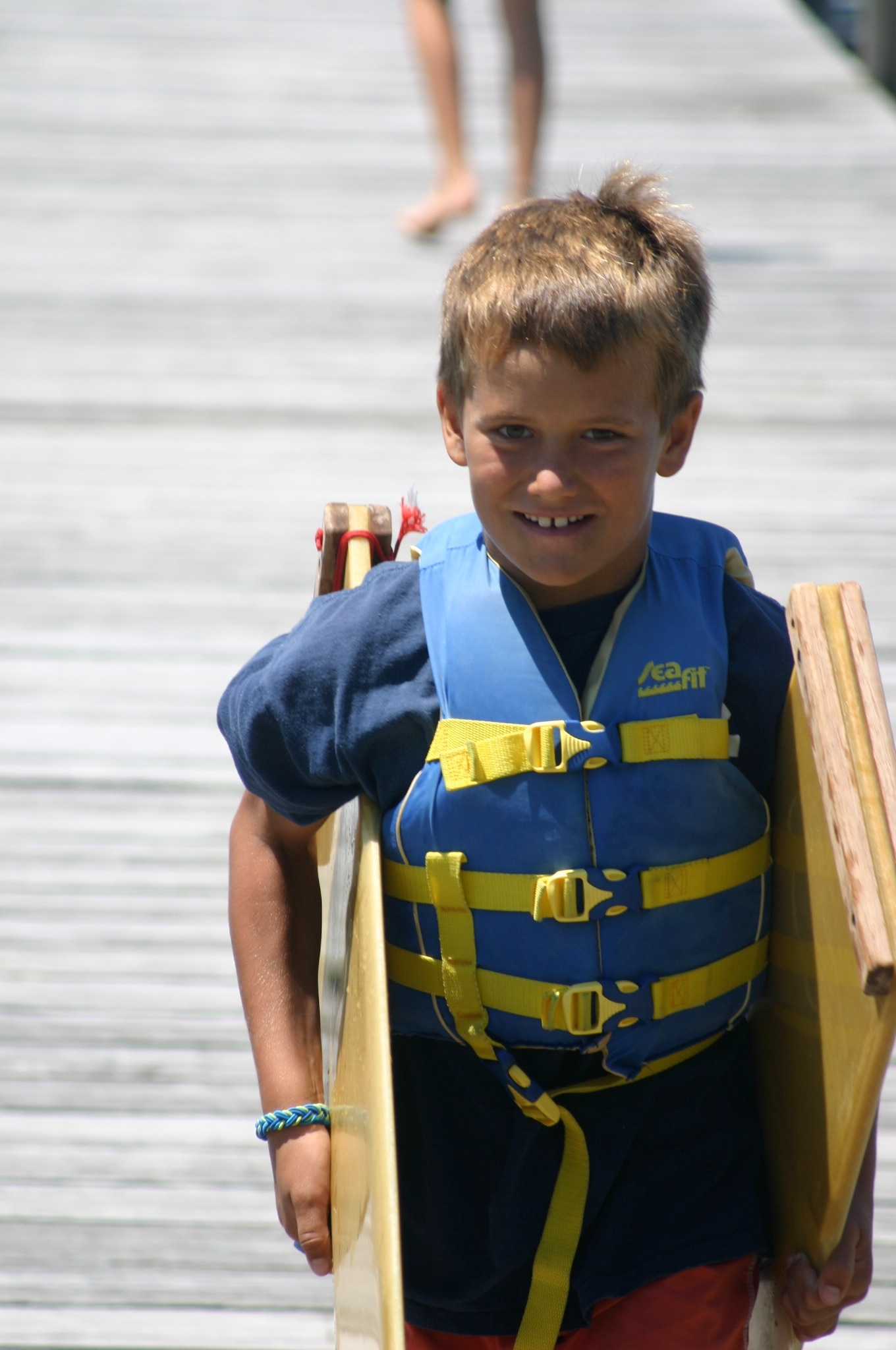 Luke heading out to sailing