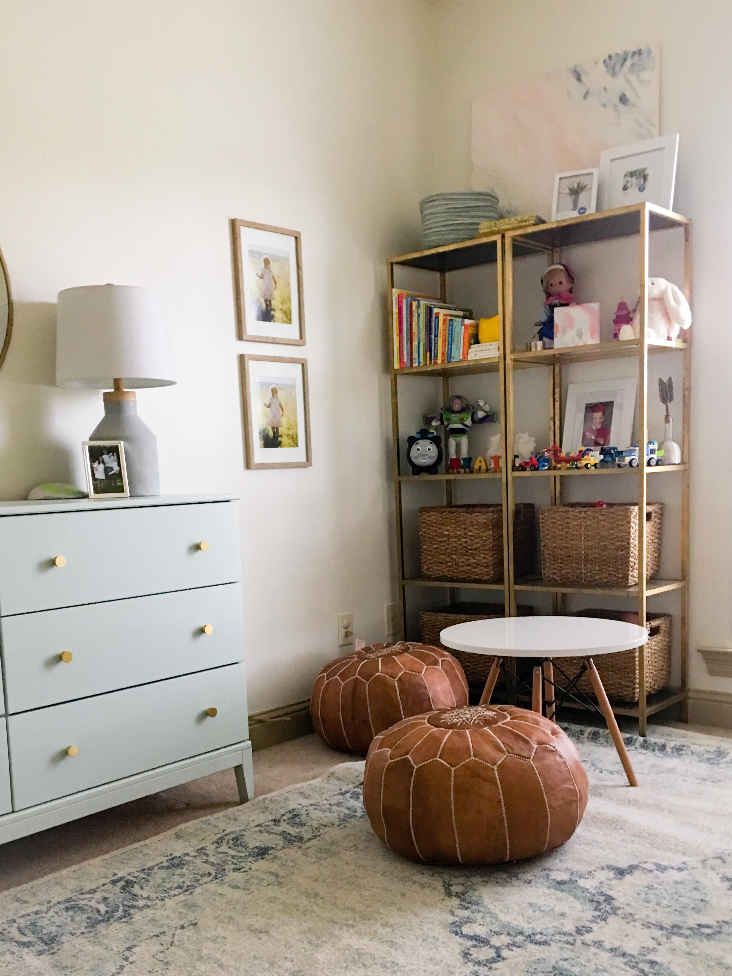 AFTER: shared kids' room play area & additional storage