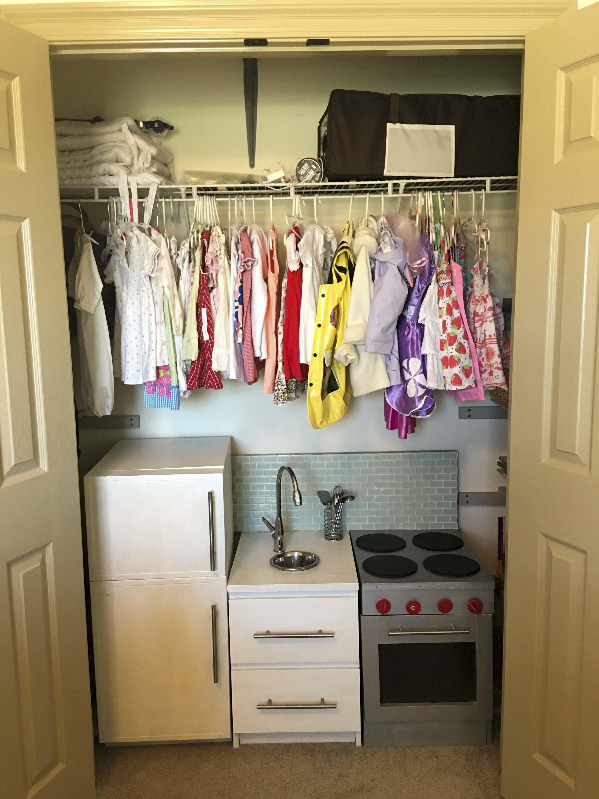BEFORE: nursery closet for one
